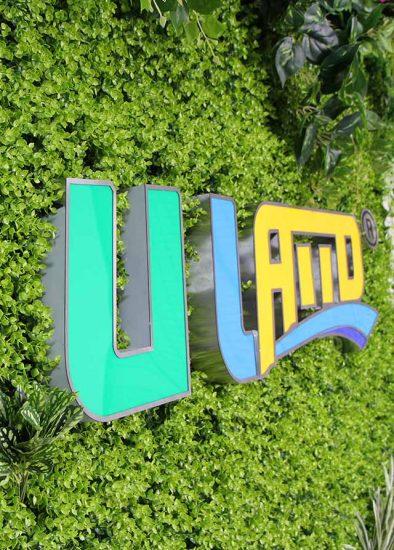 ULAND logo artificial wall